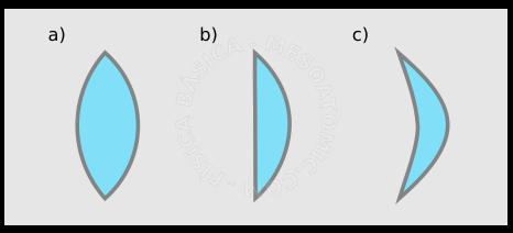 21cfd6d78 Lentes de bordes delgadas de diferentes formas: a) biconvexa c) plano- convexa, d) cóncavo-convexa ...